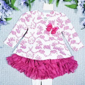 Gymboree pink floral tutu tights outfit